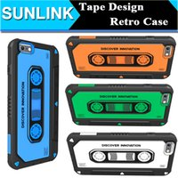 cassette case - Nillkin MUSIC EAR Case Retro Vintage Tape Cassette Shield TPU PC Back Cover D Patchwork Shell for iPhone s Plus Retail Package