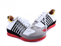 bar lace shoes - 2016 New D2 men leather brand shoes SIX BAR sneakers italy style for men low price