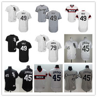 Wholesale 2016 New Cheap MLB White Sox Michael Jordan Melky Cabrera Chris Sale Jose Abreu Black Throwback Baseball Jersey Embroidery