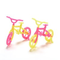 Wholesale 2016 NEW Delicate Colorful Plastic Bicycle For Barbie Baby Girl Gift Toy Doll Accessories