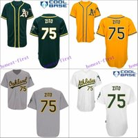 barry zito - Barry Zito Jersey Cool Base Oakland Athletics Home Away White Green Yellow Gary Uniforms
