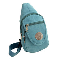 Wholesale Unisex Canvas Chest Bag Casual Men Women Crossbody Bag Vintage Unbalance Backpack Sling Shoulder Bag for Cycling Hiking Camping Travel