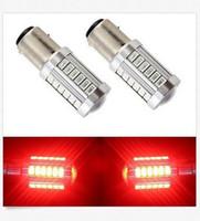 al por mayor 12v 1142-50PCS BAY15D 1157 1142 luz del freno de la parada de la cola del coche 5730 33 SMD bulbo del LED 12V DC precio al por mayor