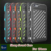 armor swords - CASEOLOGY Slim Sharp Sword Armor Back Cover Case For iPhone S Plus plus Hybrid Soft TPU Gel PC Plastic Shockproof Phone Cases
