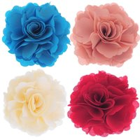 Wholesale Wedding Decoration Delicate Fabrics Cloth Art Applique Tailor Rose Shape Artificial Flowers x7cm order lt no track