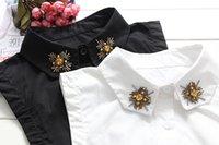 ascot blouse - Winter new Korean version of children handmade false decorated Slim lapel shirt female high end party Fashion Blouse Detachable