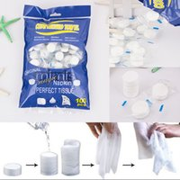 Wholesale 100 Compressed Towel Magic Wipe Soft Cotton Expandable Just add water