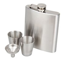 Wholesale Portable Stainless Steel oz Hip Flask Flagon Whiskey Wine Pot Bottle Gift