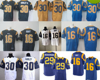 Wholesale 2016 Free Drop Shipping Rams Elite Mens Jerseys Todd Gurley II Jared Goff Royal Navy Draft Pick Stitched Jerseys