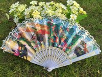 Wholesale Hot sell Plastic Spanish fan with lace