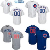 baseball personalized - Custom Baseball Jerseys Chicago Cubs Flexbase Coolbase White Home Blue Grey Jersey Customized Personalized Jersey Size S XL