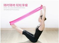 Wholesale Yoga sport esistance bands silmming yoga latex band Exercise Latex Fitness Resistance Band yoga fitness band