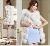 Wholesale New Arrival Winter Warm Fashion Women Import Coat Fur Vest High Grade Faux Fur Coat Fox Fur Long Vest Plus Size S XXXL