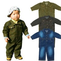 baby jean jackets - New Arrival Baby Kids Jumpsuit Clothing Jean Jacket Rompers Baby Sport Suit Baby Overalls price Hot Selling Japan