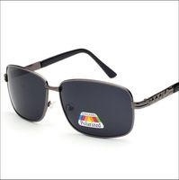 al por mayor gafas de visión nocturna de conducción-El NUEVO cristal de la manera len la gafa de sol polarizada para las gafas de sol vendedoras calientes del metal del marco de los hombres dirige la alta calidad brillante 30g de la visión nocturna