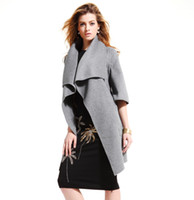 belts australia - Top luxury Hand made work gray Double sided Cashmere coat Double sided Cashmere is from Australia senior double layer woven fabric