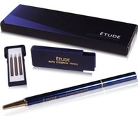 Wholesale The spot classic Blue box ETUDE Eyebrow pencil set Automatic rotating permanent waterproof and sweat Eyebrow pencil refill