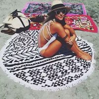 Wholesale Fringed shawls summer beach towel Round Geometric figure beach towel Superfine fiber M M BY dhl