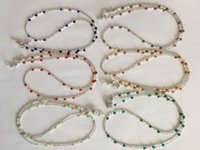assorted eyeglasses - 6 pieces assorted colored fresh water pearl and glass beaded eyeglass necklace chain retainer holder