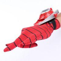 Wholesale Hero spider man iron man gloves emitter children play anime toys