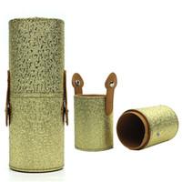 Cheap Elegant Cosmetic Makeup Brush Accommodating Cylinder Storage Case Professional Makeup Organizer Brush Holder Cup Makeup Tool Kit