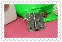 Wholesale 20pcs Furniture accessories mm mm antique wooden box flat hinge packaging accessories