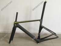 Wholesale 2016 Newest Yellow Grey Aeroad CF SLX Road Bicycle Frame Carbon Frame Size XXS XS S M L available colors for choice