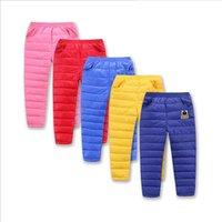 Wholesale Children s wear down trousers boys and girls in children s down trousers leisure warm outside wearing winter new