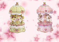 amazing and beautiful - European Style Beautiful Carved Colorful Lights Carousel Music Box Amazing Novelty Items Creative Arts and Crafts Gifts For Home Decoration