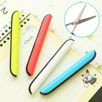 Wholesale DL Portable Scissors Fashion Mini Stainless Steel Sharpe Scissors Safety Creative DIY Scissors