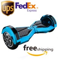 Wholesale 8 inch LED Hover Board Chrome Bluetooth hoverboard with Samsung battery Two wheel smart electric self balancing scooter Skateboard