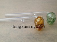 beautiful handles - new Skull Smoking Pipe oil burner Glass Pipes cm Length Handle Pipes Curved Mini Beautiful Smoking Pipe Cheap Smoking Accessories