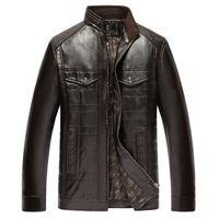 Wholesale Fall New arrive brand leather jackets men men s leather jacket jaqueta masculina mens leather jackets men coats hfx