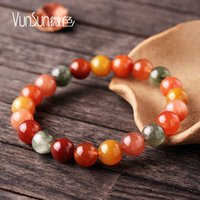 beaded hair strands - VunSun natural crystal bracelet color crystal beads hand on fukurokuju female development of rabbit hair give his mother a gift