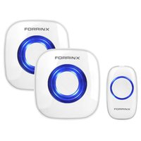 Wholesale Freeshipping Forrinx AC Wireless Doorbell Transmitter Receiver Chimes feet meters Range Wireless Door bell