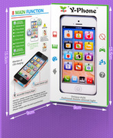 Wholesale kids learning toys Y Phone kids English Learning Machine Children Yphone Fun chargable by USB with LED Light
