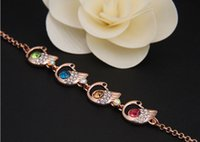 adorn designs fashion - The new summer han edition of fashion design colorful swan crystal alloy bracelet adorn article