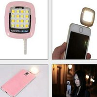 Wholesale New Portable Spotlight Smartphone Phone Selfie Mini LED Camera Flash Fill in Light For IOS Android iphone samsung htc