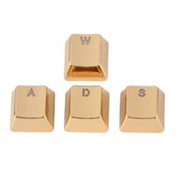 Wholesale Keycap Metal Zinc W A S D Mechanical Gaming Key Caps For Professional Gamer Gold Transparent