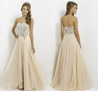 best price sequin long dress - Exquisite clothing Best Price Long Prom Dresses A line Sweetheart Chiffon Champagne Beads Sequin Backless Floor length evening gowns