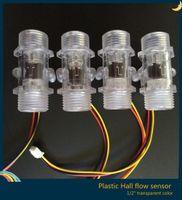 Wholesale quot DN15 FDA drinking Water liquid Plastic Hall effect turbine flow sensor meter LPM