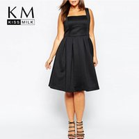 Wholesale Kissmilk Women Plus Size A Line Summer Strap Vintage Elegant Big Large Size XL XL XL XL Slim Dress