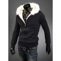 active freight - Winter Fashion Colors Zipper Men Casual Wool Collar Hooded Cardigan Sweatshirt Hoody Jersey Hoodies Coats Sport Shirt Freight