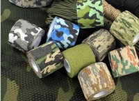 Wholesale 220x5CM Elastic Camouflage Adhesive Tape Non Woven Military Fans Tapes