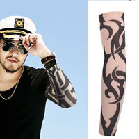 arm sleeve covers for tattoos - Outdoor cuff Tattoo Sleeves Seamless male and female flower arm riding sunscreen cover Tattoo wrist arm sleeve for Basketball