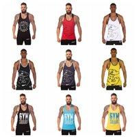 Wholesale Gym Shark Stringer Tank Top Men Gymshark Bodybuilding and Fitness Men s Singlets GYM Tank Shirts Sports Clothes HHA1074