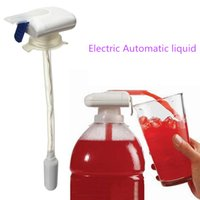 Wholesale New White Magic Tap Electric Automatic Liquid Drink Beverage Dispenser Spill Proof Hand Pressure Beverage Straw Party Supplies