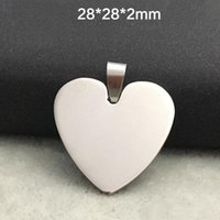 Wholesale Heart Round shape Engravable Stainless Steel Dog Tag Military Shape Men Pendant for boys Charms