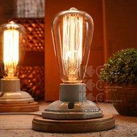 bending decorative - Vintage Loft Lustre Table Lamps Abajur Industrial Retro Decorative Desk Lamps Bedside Lamp Light Fixture Dimmable