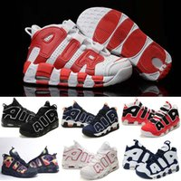 air usa - 2016 Air More Uptempo girlsnike Pippen Men Tranning Shoes Pippen Retro ladies Basketball Shoes Cheap Max Olympic USA Women Outdoor Sneakers